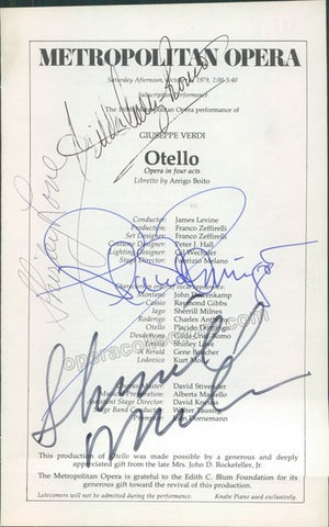 DOMINGO, Placido - CRUZ-ROMO, Gilda - LOVE, Shirley - MILNES, Sherrill - TaminoAutographs.com