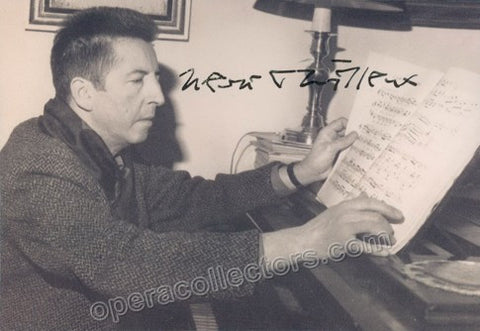 Dutilleux, Henri - Signed Photo - TaminoAutographs.com