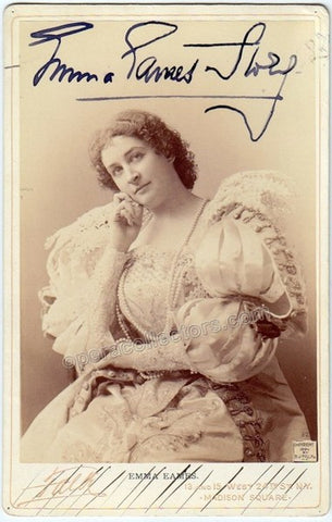 Eames, Emma - Signed cabinet photo in Le Nozze di Figaro - TaminoAutographs.com