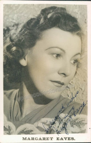 EAVES, Margaret - TaminoAutographs.com