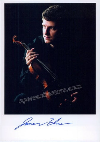 Ehnes, James - Signed Photo with violin - TaminoAutographs.com