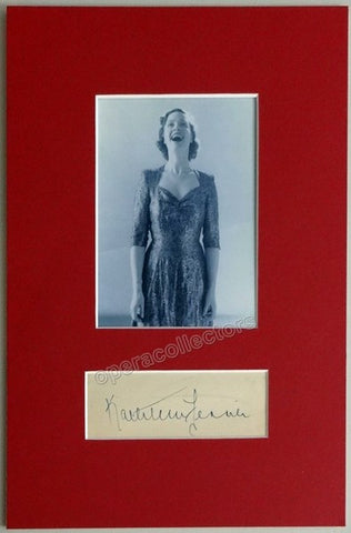 Ferrier, Kathleen - Signature and Photo - Tamino Autographs  - 1