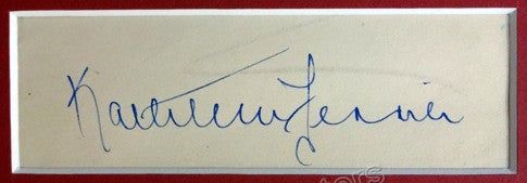 Ferrier, Kathleen - Signature and Photo
