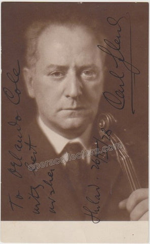 Flesch, Carl - Signed Photo Postcard with Violin - Tamino Autographs