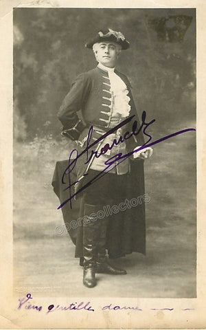 Francell, Fernand - Signed Photo in Manon - Tamino Autographs