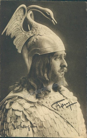 Franz, Paul - Signed Photo postcard as Lohengrin - Tamino Autographs