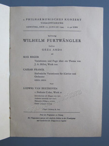 Furtwangler, Wilhelm - Program 1943