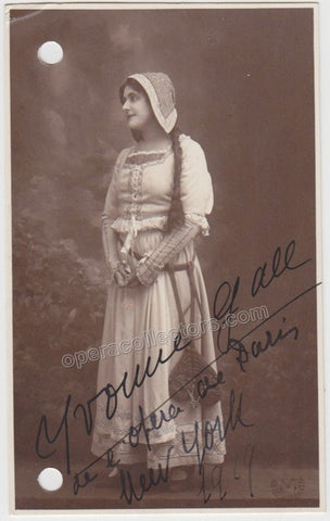 Gall, Yvonne - Signed Photo in Role 1909