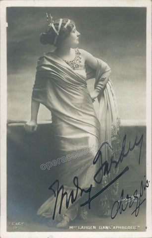 Garden, Mary - Signed Photo in Aphrodite - Tamino Autographs