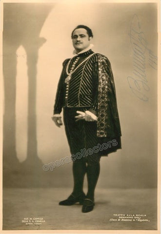 Gigli, Beniamino - Signed Photo in Rigoletto - Tamino Autographs