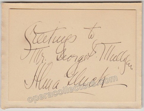 Gluck, Alma - Signed Card