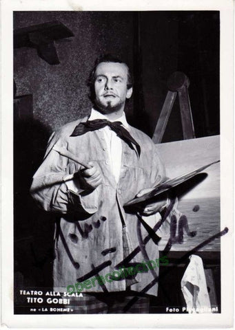 Gobbi, Tito - shown as Marcello in La Boheme - TaminoAutographs.com