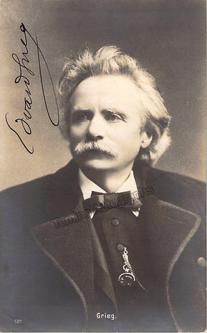 Grieg, Edvard - Signed Photo - Tamino Autographs