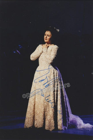Gruberova, Edita - Signed Photo in I Puritani + Signed Cast Page - TaminoAutographs.com