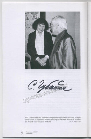 Gubaidulina, Sofia - Signed Photo in Program