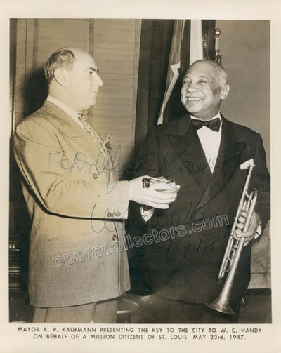 Handy, William C. - Signed Photo with Trumpet