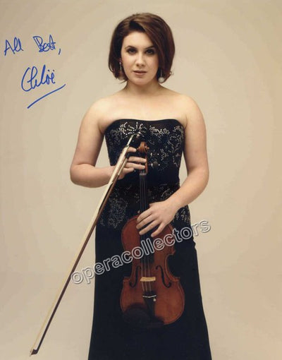 Hanslip, Chloe - Signed Photo with violin