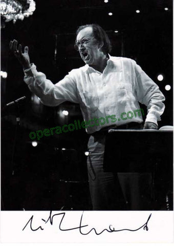 Harnoncourt, Nikolaus - Signed Photo conducting - TaminoAutographs.com