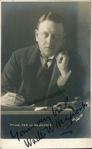 Hedgecock, Walter - Signed Photo