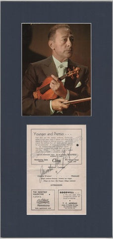 Heifetz, Jascha - Signed program with photo