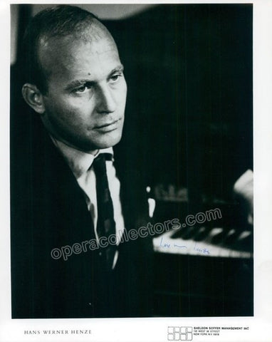 Henze, Hans Werner - Signed Photo