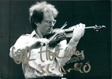 Hoelscher, Ulf - Signed Photo playing violin - Tamino Autographs