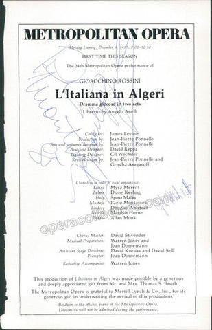 HORNE, Marilyn - MONTARSOLO, Paolo - AHLSTEDT, Douglas - Tamino Autographs