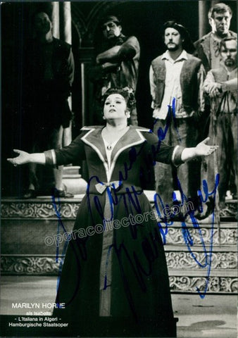 Horne, Marilyn - Signed Photo in L?Italiana in Algeri - Tamino Autographs