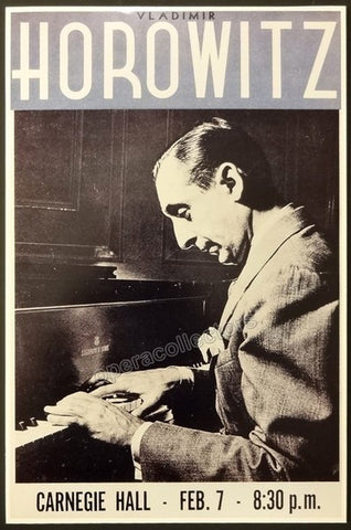 Horowitz, Vladimir - Unsigned Poster Display - Tamino Autographs