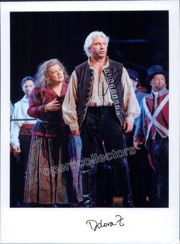 Hvorostovsky, Dmitri and Zajick, Dolora - Double signed photo on stage - Tamino Autographs