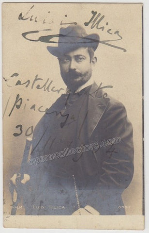 Illica, Luigi - Signed Photo postcard - Tamino Autographs