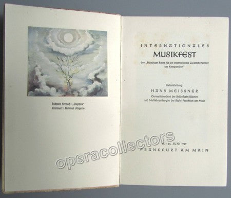 International Music Festival 1939 Program