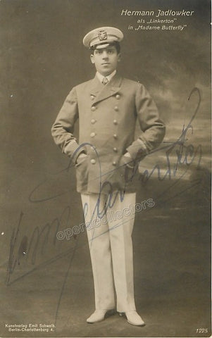 Jadlowker, Hermann - Signed Photo in Madama Butterfly - Tamino Autographs