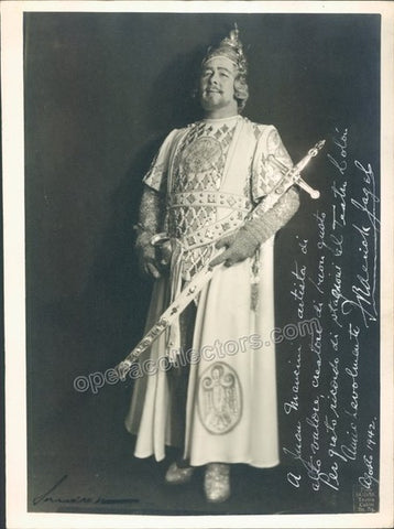 Jagel, Frederick - Signed Photo as Lohengrin - Tamino Autographs