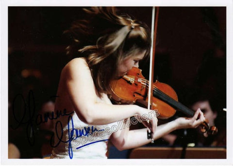 Jansen, Janine - signed photo playing violin - Tamino Autographs