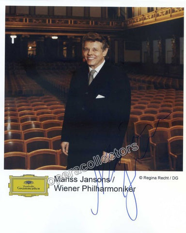 Jansons, Mariss - Signed Photo - Tamino Autographs