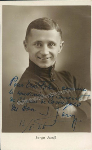 Jaroff, Serge - Signed Photo Postcard