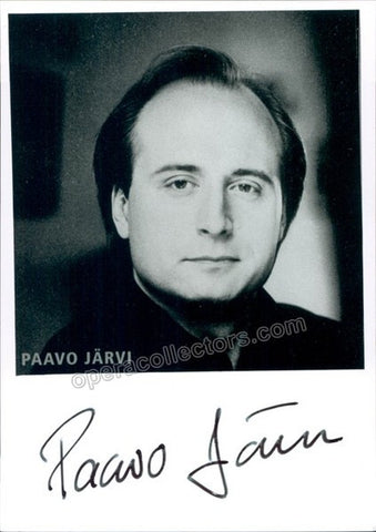 Jarvi, Paavo - Signed Photo - Tamino Autographs