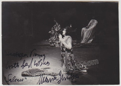Jeritza, Maria - Signed Photo as Salome on Stage