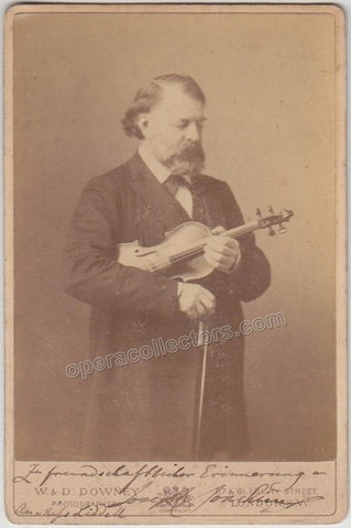 Joachim, Joseph - Signed Cabinet Photo with Violin