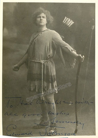Johnson, Edward - Signed Photo in Parsifal