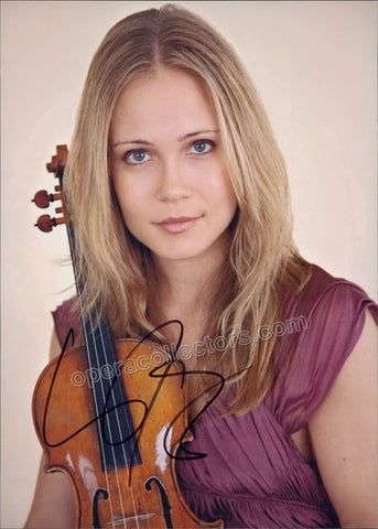 Josefowicz, Leila - Signed Photo with violin - TaminoAutographs.com
