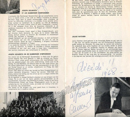 Keilberth, Joseph - Katchen, Julius - Signed Program 1966/67