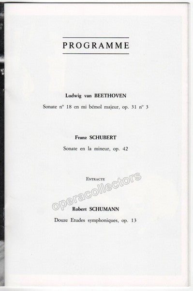 Kempff, Wilhelm - Paris Concert Program 1981 - TaminoAutographs.com
