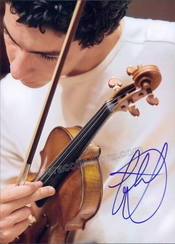 Khachatryan, Sergey - Signed photo with violin - Tamino Autographs