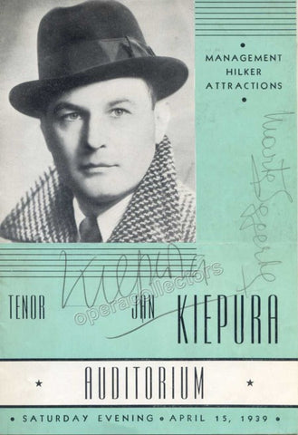 KIEPURA, Jan - EGGERTH, Marta - TaminoAutographs.com