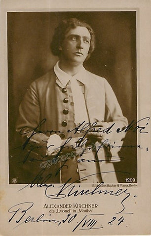Kirchner, Alexander - Signed Photo in Martha 1924 - TaminoAutographs.com
