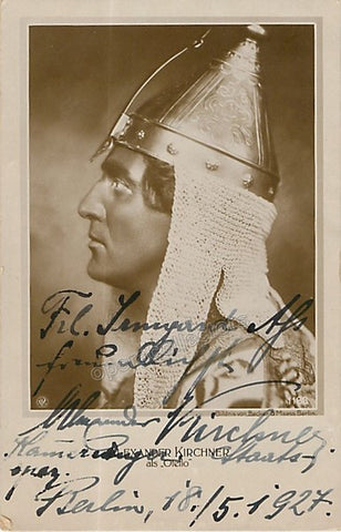 Kirchner, Alexander - Signed Photo in Otello 1927 - TaminoAutographs.com