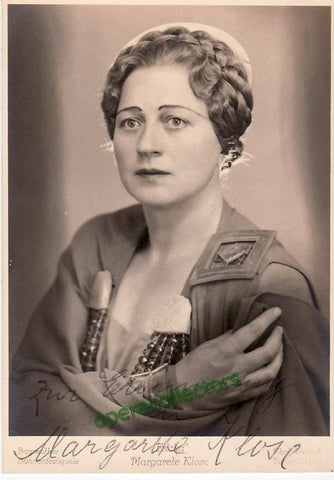 Klose, Margarete - shown as Fricka - TaminoAutographs.com