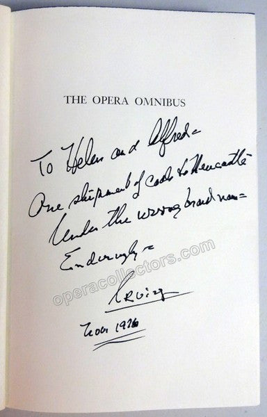 "Kolodin, Irving - Signed Book ""The Opera Omnibus"" - TaminoAutographs.com"